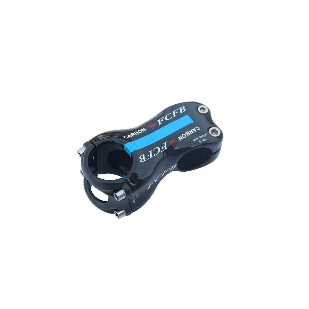 FCFB FW angle 17 blue glossy full carbon stem+ Hollow aluminum cover road bike stem mountain bike stem 70/80/90/100/110/120/130mm