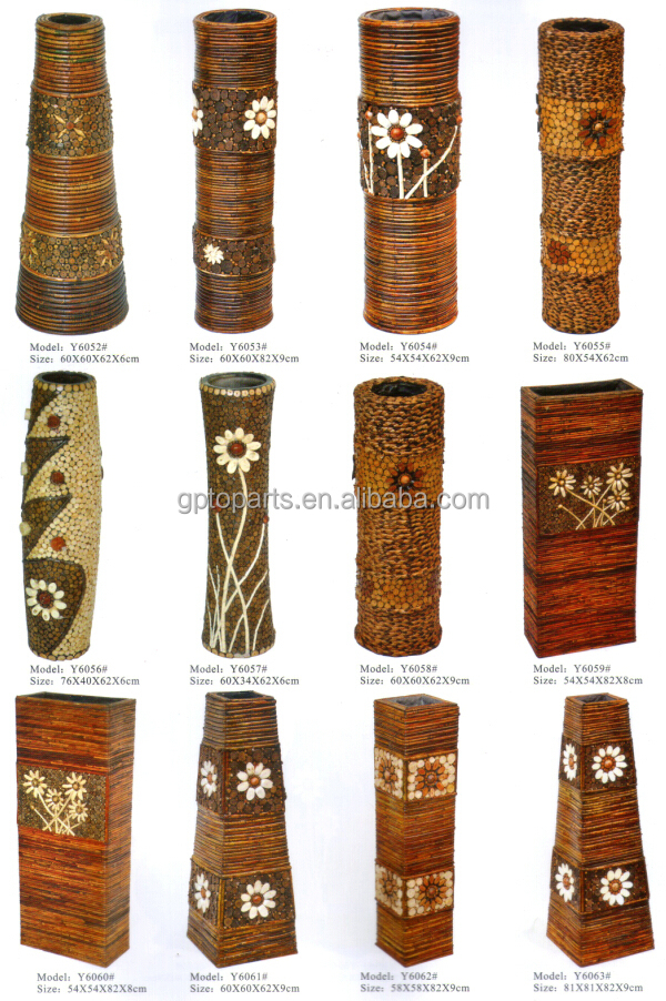 tall wicker classical vase