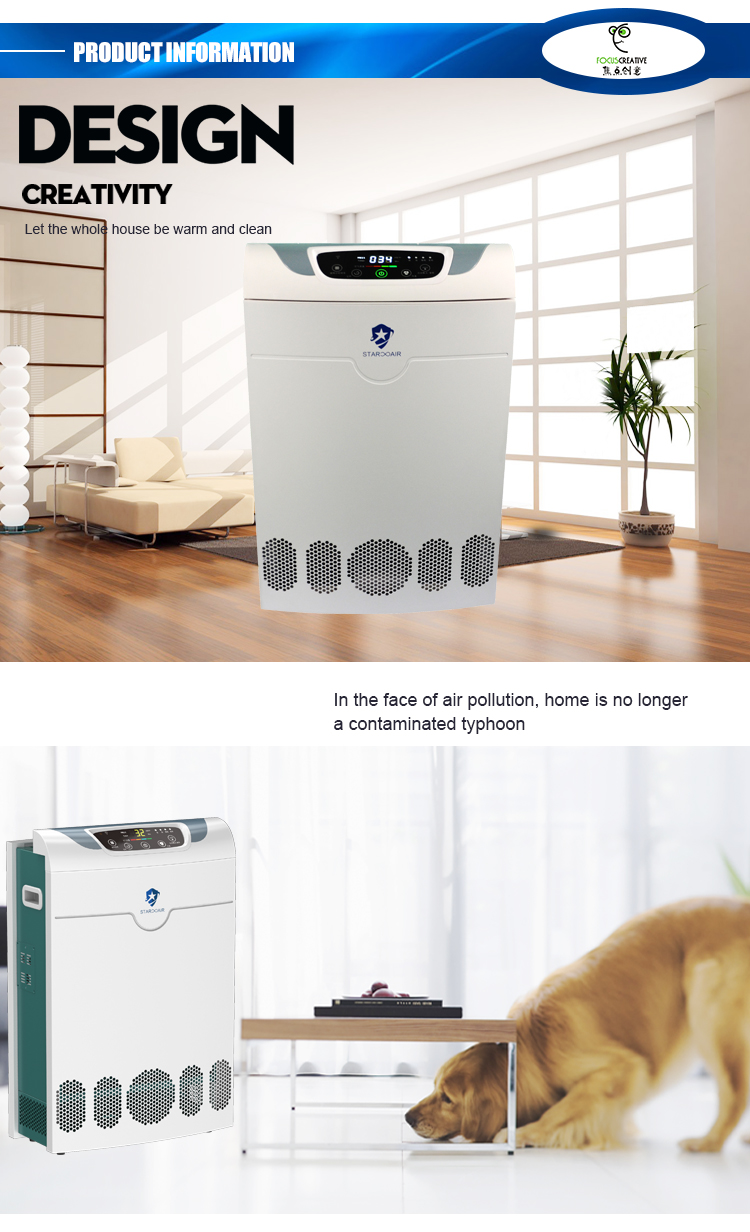 Air Cleaner Filter System For Home With Touch Screen