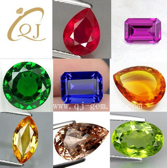 China Manufacturer AAA White Synthetic Cubic Zirconia Gemstones