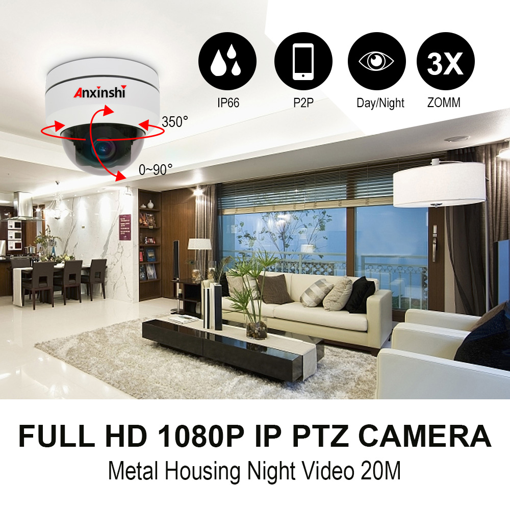 2 inch Dome metal housing POE IP PTZ camera