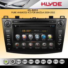 new mazda 3 with android 2009-20012 Android 4.2.2 Car DVD with Capacitive Screen GPS 1G DDR3 RAM ARM Cortex A9 1.6GHZ Dual Core