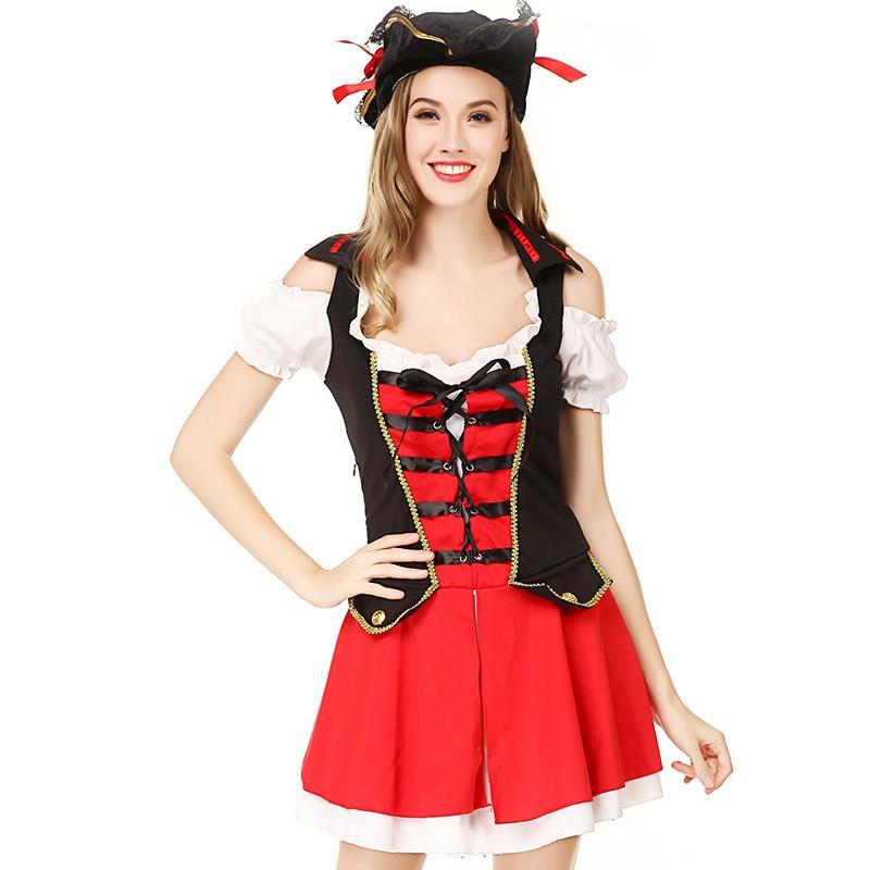 Großhandel Wholesale Sexy Pirate Cosplay Kostüm Sexy Schulmädchen
