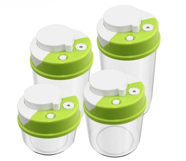 Delicieux Plastic Push Type Vacuum Food Storage Box