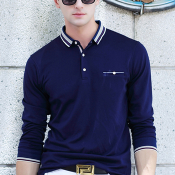 baa14f58bc9 The spring and autumn men's business casual long sleeved t-shirt POLO shirt  custom-made order are welcome, View polo shirts men, Boshi Product Details  ...