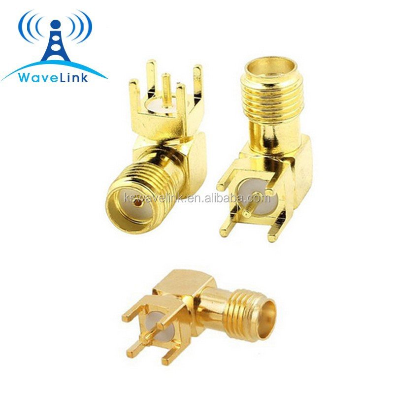 Factory Price 90 deg Right Angle RF PCB Mount Female SMA Connector