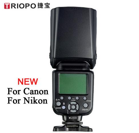 New TRIOPO TR-982 II Wireless TTL Speedlite Master Slave Camera Flash 1/8000 HSS Speedlite forNikon forCanon DSLR Cameras