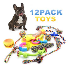 12 Pack Gift Free Assortment Soft Squeaky Pet Toy For Dogs 2017 New Cheap Chew Cotton Rope Sex Dog Toy Girl Set