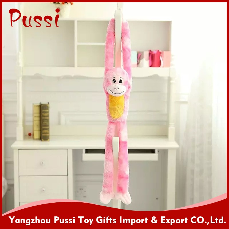 Plush hanging monkey,, long legs and arms soft hang moneky toy