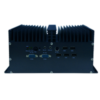 Intel I3 I5 I7 Mini Fanless Embedded PC Multi-Com Industrial computer Linux With 2LAN 6RS232