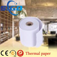 SIGO 2015 Factory Price Zebra printer blank white self adhesive thermal paper rolls