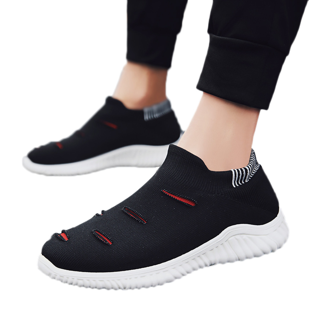 Muqgew Hollow Out Solid Big Size Flats Sneakers Shoes New Arrival Casual Sets Of Feet Lightweight Outdoor Non-slip Sneaker Shoes Shoes