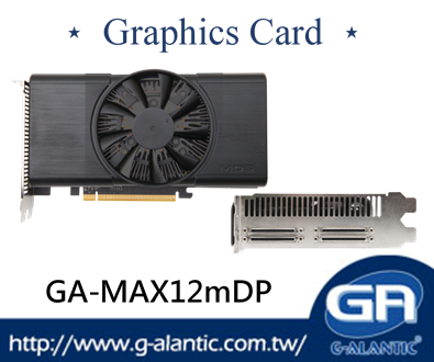 GA-MAX12mDP - 3D performance deliver flexibility graphics card 6GB GDDR5 high speed