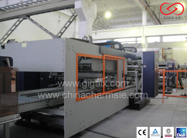GIGA LX608 Computerized Color Mixing Machine Online With Folder Gluer Machine