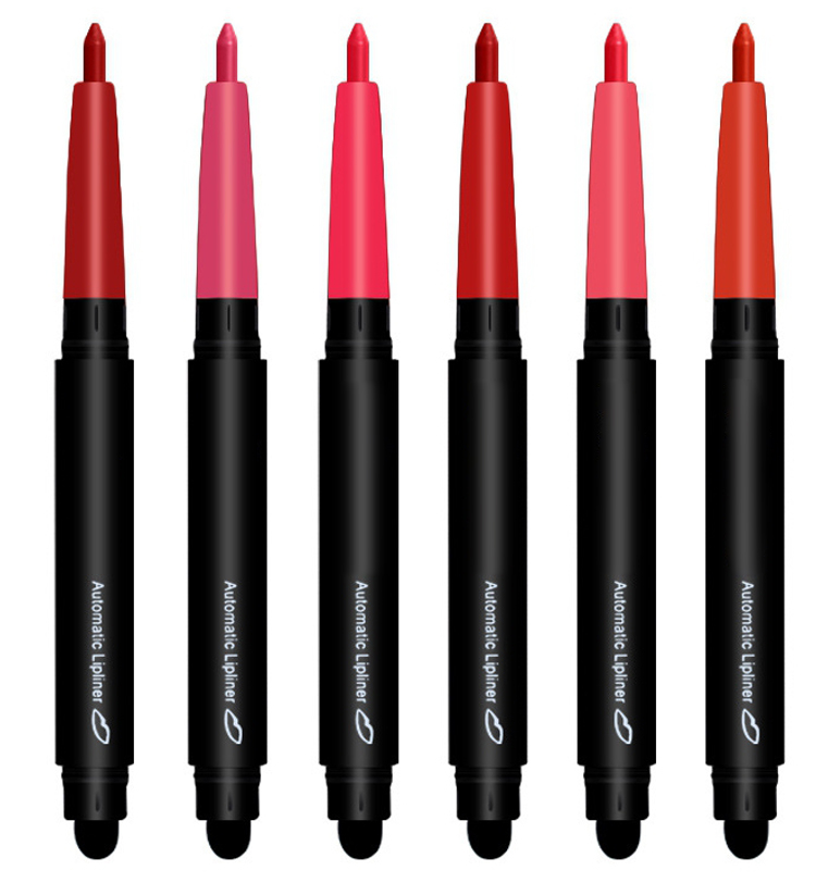 5 di colore Opaco Rossetto Lip Liner Matita, Doppio-End di Lunga Durata Rossetto Impermeabile Set-6pcs