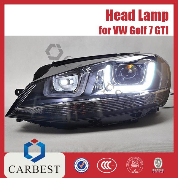 High Quality Auto Hid Xenon Bulb head lights for car for VW Golf 7