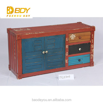 Delightful Indian Style Modern Book Showcase Hand Painted Furniture