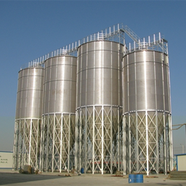 2019 new type galvanized poultry feed 15 tons steel silo for sale