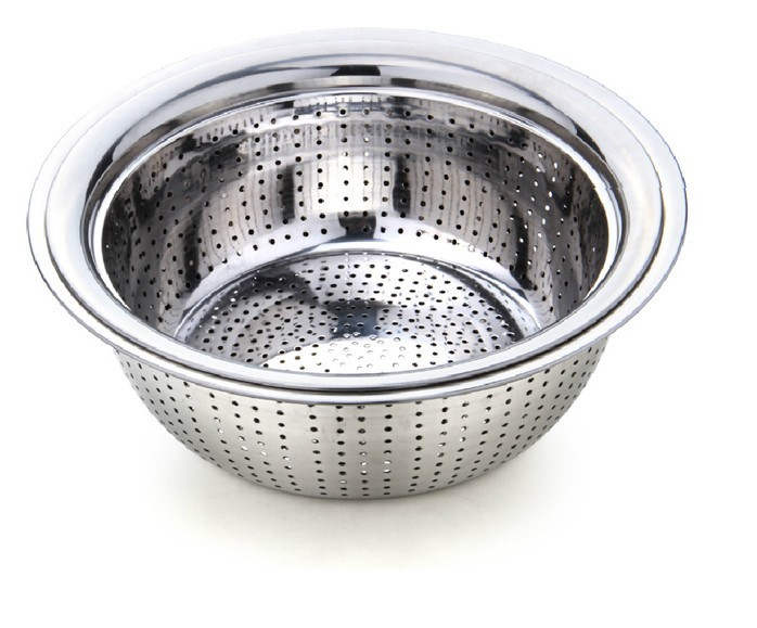 Wholesale high quantity Kitchen Stainless steel Strainer/ sink colander/ collapsible colander