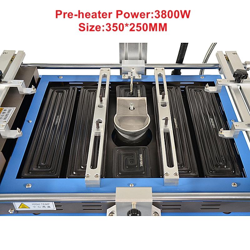 LY G580 полуавтоматическая 3 зоны Горячего Воздуха BGA паяльная станция для ноутбуков/игровых консолей 220V 4800W