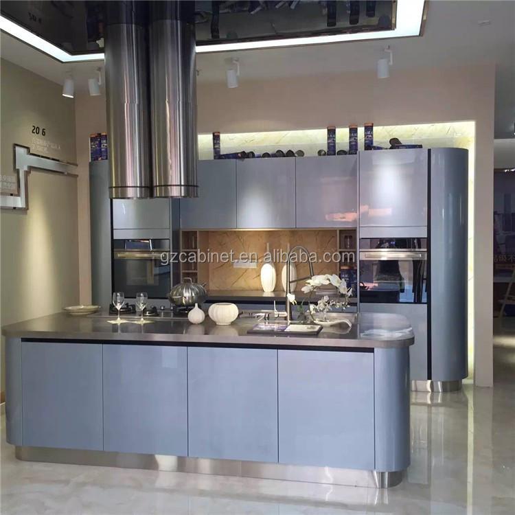Nuevo Diseño Guangzhou Alta Brillante Cocina Moderna Diseño Simple ...