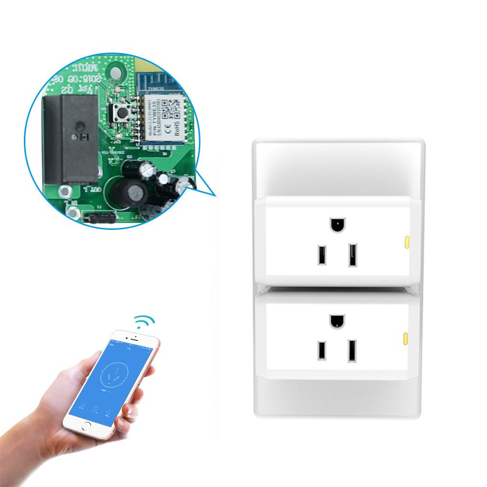Wi-Fi Умный дом штекер и розетка с подсветкой Поддержка как Apple HomeKit/Amazon Alexa для iOS