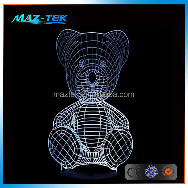 New 2016 3D optical illusions led night light lamp