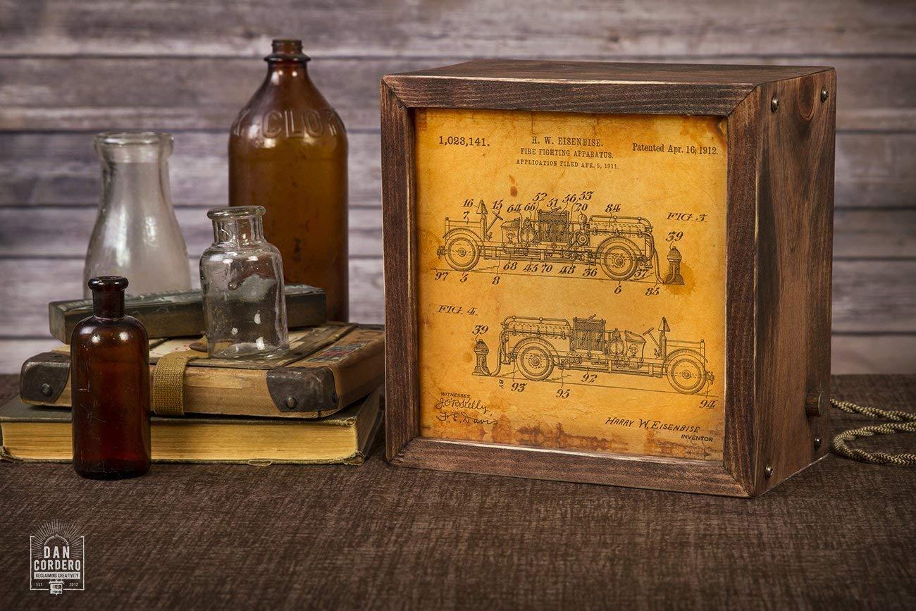 Edison Lightbox | Patent | Light Box | Table Lamp | Desk Lamp | LED | Lamp | Firetruck | Firefighter