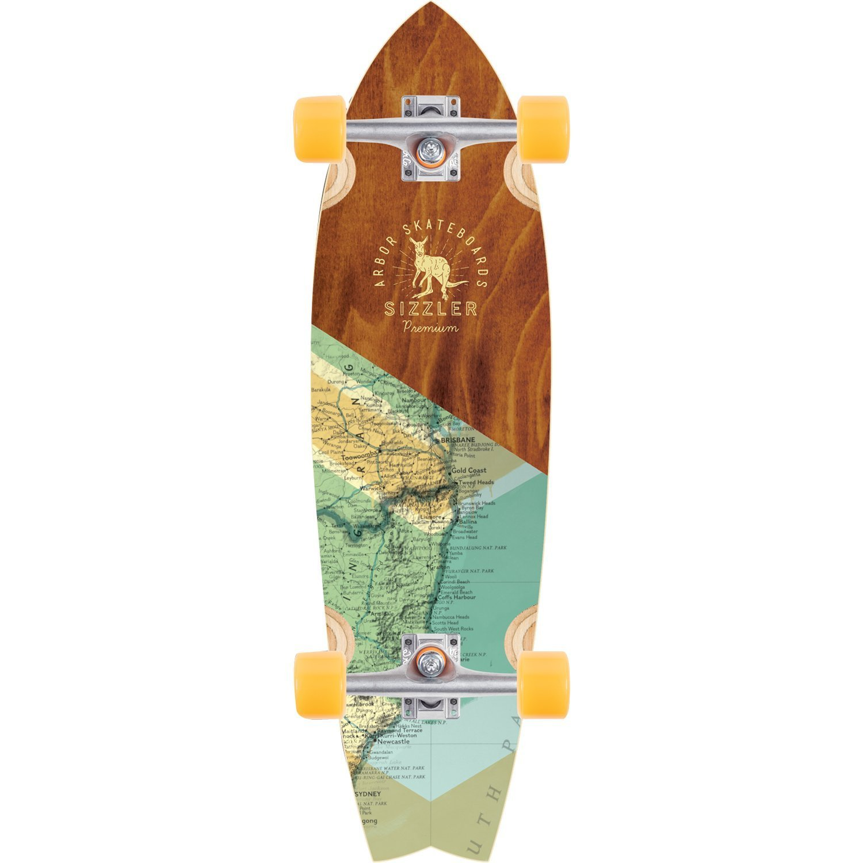 Arbor Groundswell Premium Sizzler Complete Longboard Skateboard -8.63x31.75 - Brand new 2017 Model!
