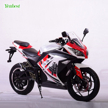 Super speed latest fashion double disc brakes racing electric motorcycle