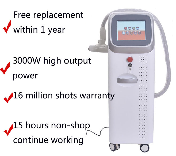 Factory 808nm laser diode hair removal machine for beauty salon/clinic/home