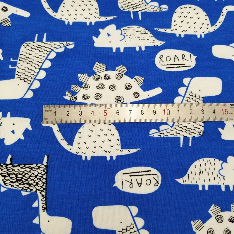 40s 100% cotton knit jersey Printed children fabric for bed linings & clothes/apparel