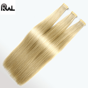 Platinum Blonde Straight Unprocessed Real Human Hair Extensions