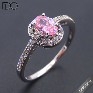 Hot Selling 925 sterling silver Top grade zircon wedding ring set free sample for women