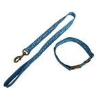 dog accessories reflective nylon waste bags with dispenser and leash clip necklace