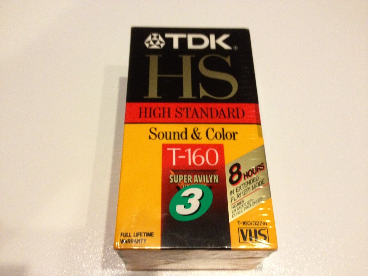 8 hours in EP Mode 1 count TDK HS T-160 High Standard Sound /& Color VHS Video Cassette Tape