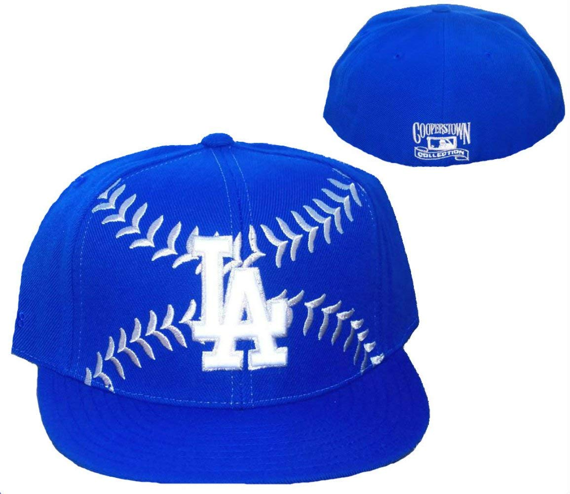 purchase cheap 9b49c 89e00 Get Quotations · Los Angeles Dodgers BASEBALL Fitted Size 7 1 2 Cooperstown  Collection Hat Cap