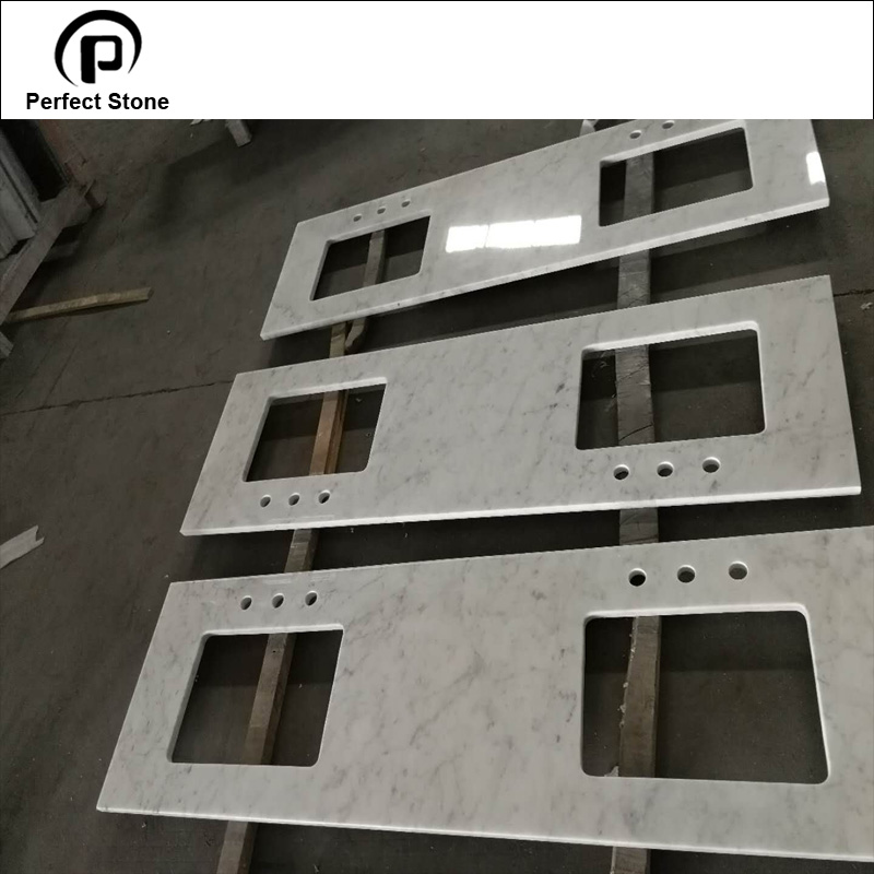 "30"" Bianco carrara white marble with vanity tops manufacturers"