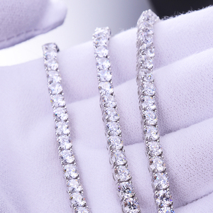 fashion jewelry 2018 mens iced out 4mm diamond 20'' hiphop tennis diamond chain