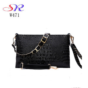 W471 How sale Alibaba online shopping custom made leather crocodile women cluth bag handbags