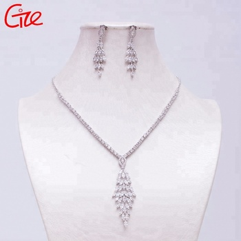 fashion environmental copper rhodium Italian gold plated wedding Jewelry set Factory OEM and ODM Design High Quality