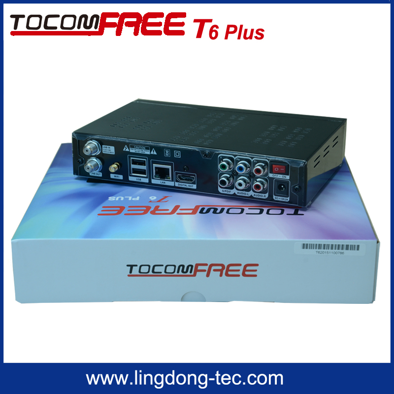 TOCOMFREE T6 PLUS Quad Core XBMC Kodi <strong>TV</strong> Box Android 4.2 <strong>Satellite</strong> Receiver DVB-S2+3x blue photo video