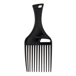 Afro Brush Plastic flat hair fork comb insert hair pik lift disc combs