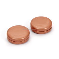 cosmetic small round copper gold tin box olive oil tin cans