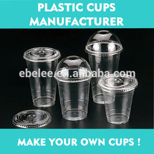 12oz/16oz/20oz clear disposable plastic PET cups for cold drinks