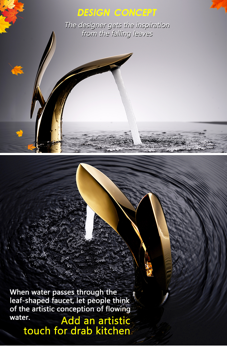 luxury Single Handle Brass Sink Mixer Brass Bathroom Basin Faucet