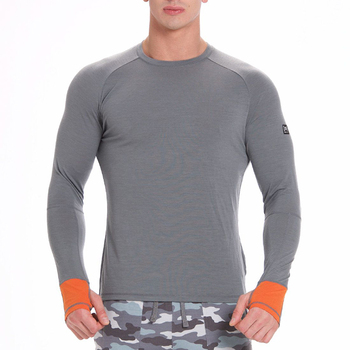 d8fe541a7ce Mens Long Sleeve Sports T-shirt Slim Fit Cotton Spandex Tshirt - Buy ...