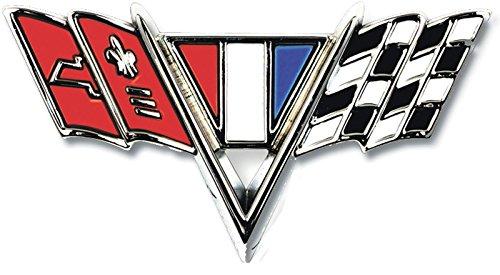 """65-67 Nova Chevelle Fullsize 67 Camaro """"V-Flag"""" Fender Emblem (Sold as Each)"""