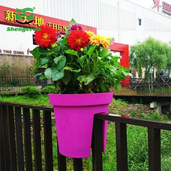 Round Colorful Outdoor Garden Products Plastic Material And Pots Type Intelligent Flower Pot