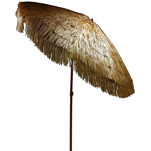 6.5u0027 Thatch Patio Umbrella An Remote Parasol   Buy Remote Parasol Product  On Alibaba.com